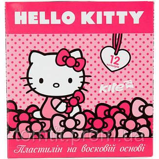 Пластилин восковый «Hello Kitty» 12 цветов, ТМ Kite, фото 2