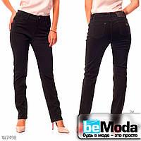Стильные женские джинсы Lady N классического кроя черные