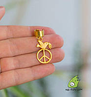 "Кафф ""Peace, голубь мира"". Без прокола. Sale"