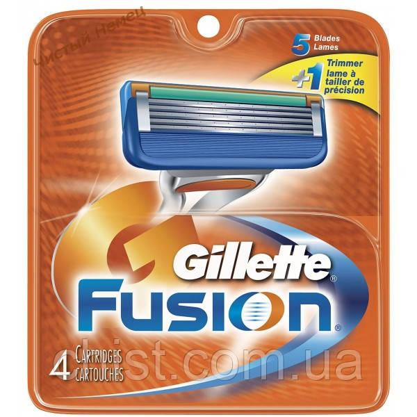 Gillette Fusion сменные кассеты (4шт.)