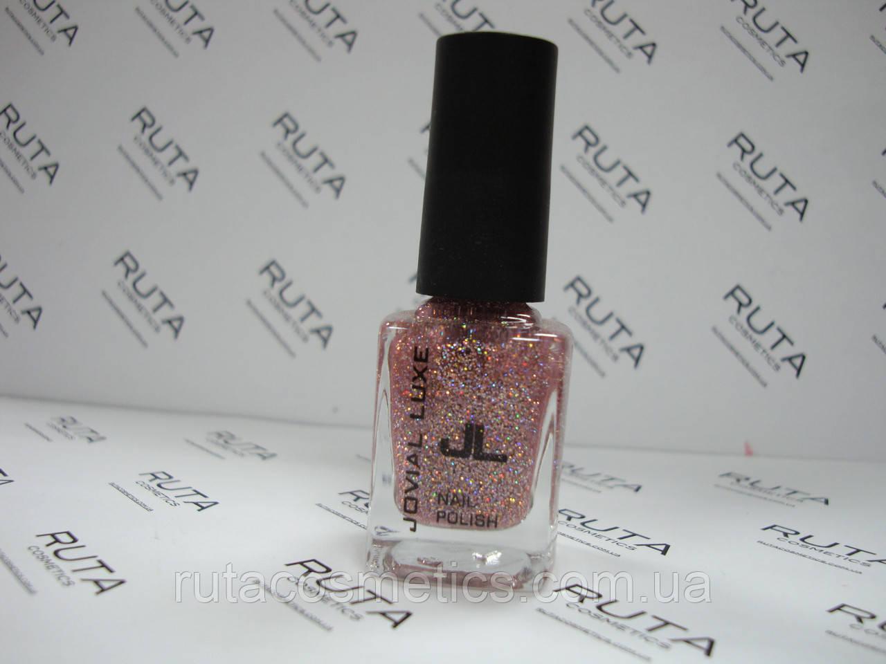 Лак для ногтей с блестками Jovial Luxe 403 розовый
