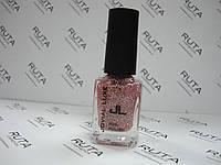 Лак для ногтей с блестками Jovial Luxe 403 розовый, фото 1