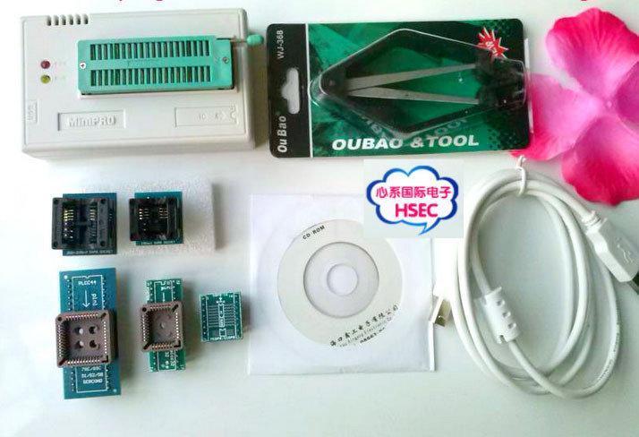 MiniPro TL866CS USB программатор + адаптеры