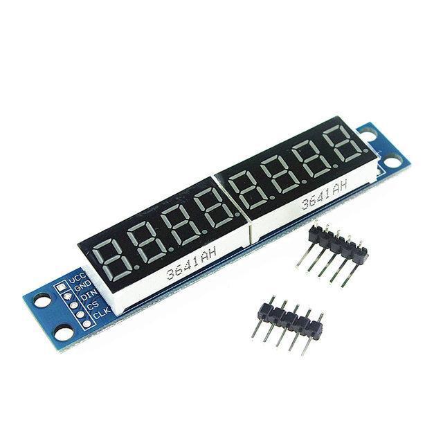8-ми разрядный 7-ми сегментный светодиодный модуль MAX7219