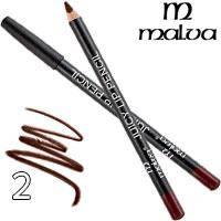 Malva Карандаш для губ M-900 Juicy Pencil Тон 02 burgundy матовый, фото 2