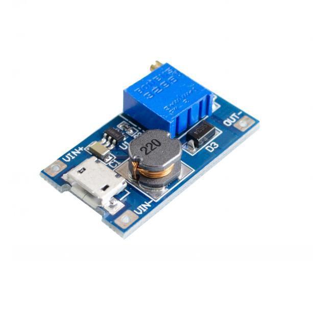 MT3608 micro USB стабилизатор модуль повышающий DC/DC