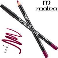 Malva Карандаш для губ M-900 Juicy Pencil Тон 07 lilac wine матовый, фото 2