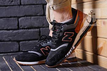 Мужские кроссовки New Balance 997 (Нью Баланс) черно-розовые
