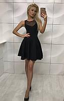 Платье женское с сеткой