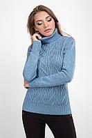 Классический женский свитер сине-голубого цвета