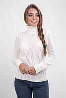 Классический женский свитер молочного цвета, фото 1