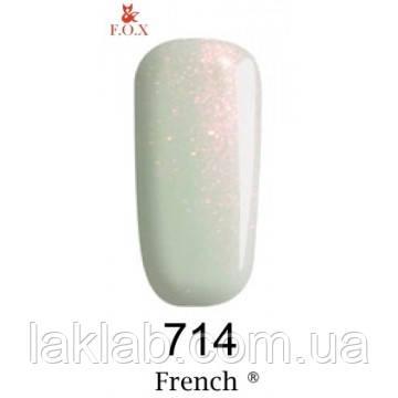 """Гель лак F.O.X.""""French""""№714, 6мл"""