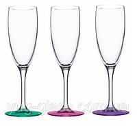 """Набор бокалов 170 мл для шампанского """"Эдем""""14с1774ЛМ Лак Микс 3 шт."""