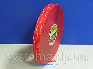 3M™ VHB™ 4910 - Акриловый двухсторонний скотч 3M (клей в ленте) прозрачный, 12,0х1,0 мм, рулон 33 м, фото 2