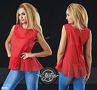 Летняя коттоновая блузка - 16592