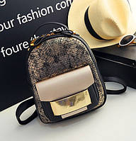 Женский рюкзак кожа ПУ Золото