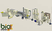 Участок гранулирования 800-1200 кг/ч (шелуха)
