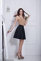 Юбки женские Подіум Женская юбка солнце-клеш Подіум Warence 11850-BLACK XS Черный