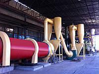 Роторная сушилка барабанного типа для сыпучих материалов и ТБО