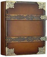 """Книга почетных гостей Книга почетных гостей  25см х 34см натуральная кожа """"Сага"""" Foliant (EG466 x 97512)"""