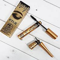 Водостойкая тушь и подводка Kylie 2 in 1 Mascara and Eyeliner Waterproof (набор)