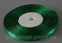 Лента атласная зеленая 0,6 см 36ярд