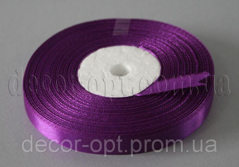 Стрічка атласна фіолетова 0,9 см 36ярд 182