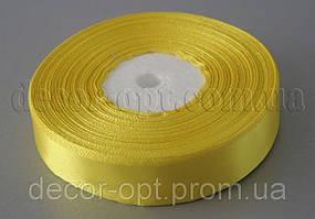 Лента атласная желтая 2,00 см 36ярд 15