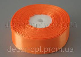 Лента атласная морковная 2,50 см 36ярд арт.151