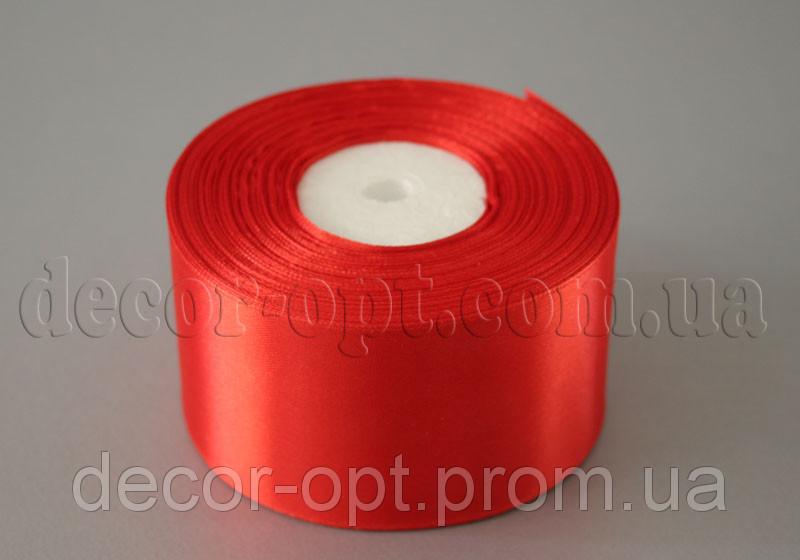 Стрічка атласна червона 5,00 см 36ярд 26