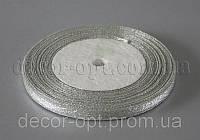 Лента парча серебро 0,6 см 25ярд