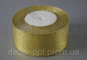 Лента парча золото 5 см 25ярд