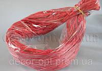 Рафия красная в пакете 55-70гр