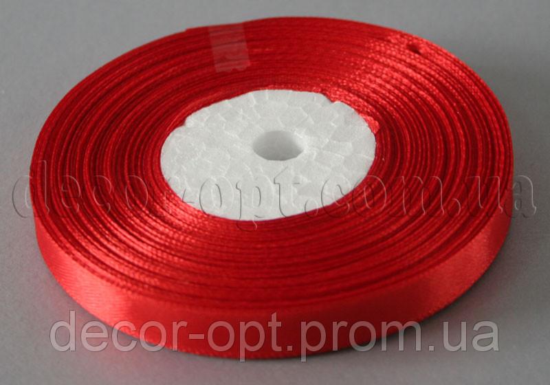 Лента атласная красная 0,9 см 36ярд 26