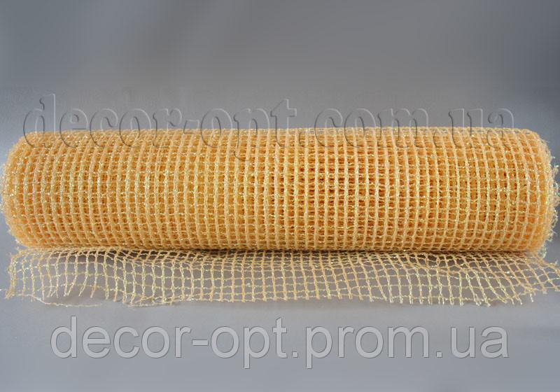 Сетка опал персиковая 50 см/5 м