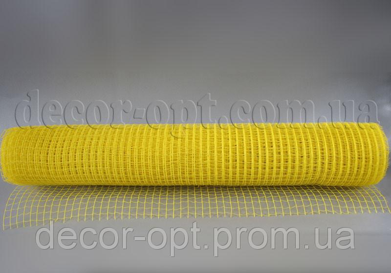 Сетка простая желтая натур. 50 см/5 м