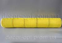 Сетка желтая  с люрексом 50 см/10 м