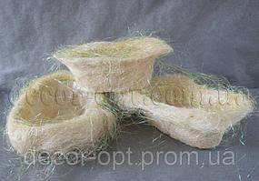 Корзины кремовые из сизали  3 шт