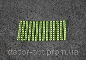 Камешки салатовые  на липучке 6 мм 140 шт