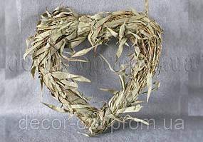 Рамка сердце натур. 30 см