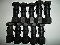 Шпилька+гайка+контр.гайка колесная правая задняя FAW 1031, 1041