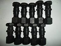 Шпилька+гайка+контр.гайка колесная правая передняя FAW 1031, 1041