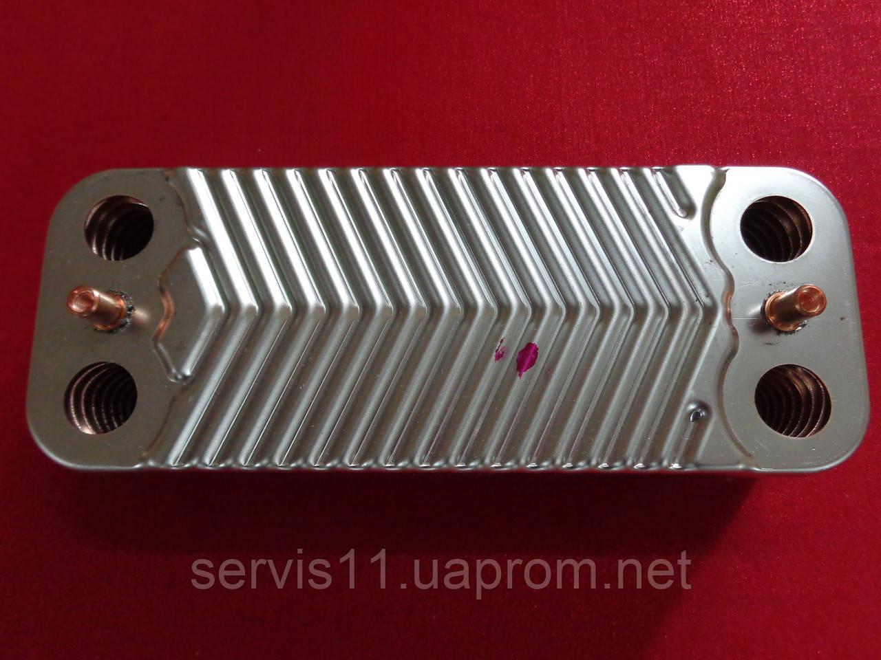 Теплообменник ГВС Immergas Mini 28 kw, Victrix 28 kw, Mini Special 28 kw на 16 пластин
