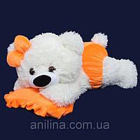 Мишка-Малышка 45 см бело-оранжевая