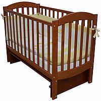 Детская кроватка Верес Соня ЛД10 Маятник с подвижной боковиной (без ящика) Ольха (10.3.02)