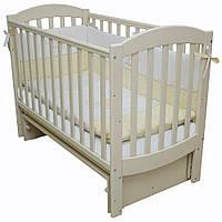 Детская кроватка Верес Соня ЛД10 Маятник с подвижной боковиной (без ящика) Слоновая кость (10.3.04)