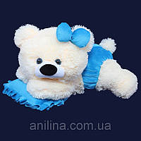Мишка-Малышка 45 см голубая