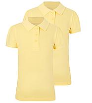 Школьное поло желтое с коротким рукавом на девочку 6-7-8-9-10 лет George (Англия)