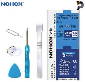 Аккумулятор Nohon EB-BG920ABE для Samsung SM-G920F Galaxy S6 (ёмкость 2550mAh)