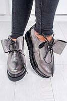 """Стильные женские туфли на платформе из натуральной кожи """"Бант"""", 2 цвета"""